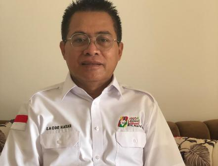 Ketgam : Ketua Umum Anoa La Ode Abd Hasar Hidali
