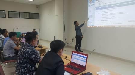 Ketgam : Latihan pengelolaan aplikasi Simral olehBadan Pengkajian dan Penerapan Teknologi Republik Indonesia