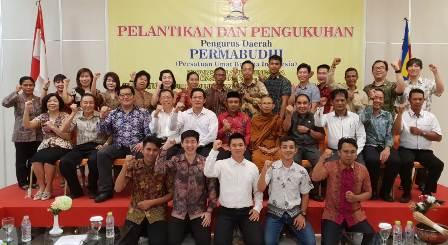 Ketgam : Pengurus Persatuan Umat Budha Indonesia (Permabudhi) Provinsi Sulawesi Tenggara (Sultra)/foto : Taufic Kalosara News