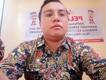 Ketgam : Koordinator Divisi Hukum, Penindakan, dan Penanganan Pelanggaran, Bawaslu Konawe, Indra Eka Putra
