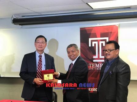 Ketgam : Unsultra Prof. Dr. Andi Bahrun bersama pimpinan Temple University usai Mou/foto : Ist