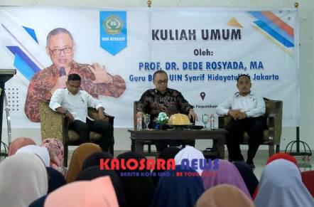 Ketgam : Guru Besar (Gubes) Universitas Islam Negeri (UIN) Syarif Hidayatullah Jakarta Prof. Dr. Dede Rosyada, MA (Tengah)