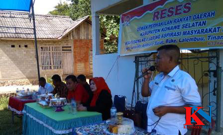 Ketgam : Reses Anggota DPRD Konsel di beberapa Desa di Daerah Pemilihan (Dapil) Satu