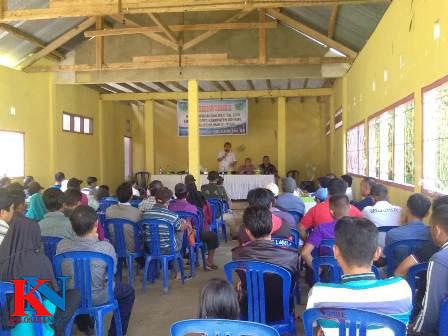 Ketgam : Reses kedua Ketua DPRD Konawe Dr Ardin di Desa Lawulo, Kecamatan Besulutu, Kabupaten Konawe