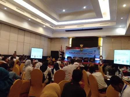 Ketgam : kegiatan Forum Kemitraan Ormas dalam rangka peningkatan Kapasitas Kelompok Perempuan, Peyandang difabel dan kelompok Marjinal