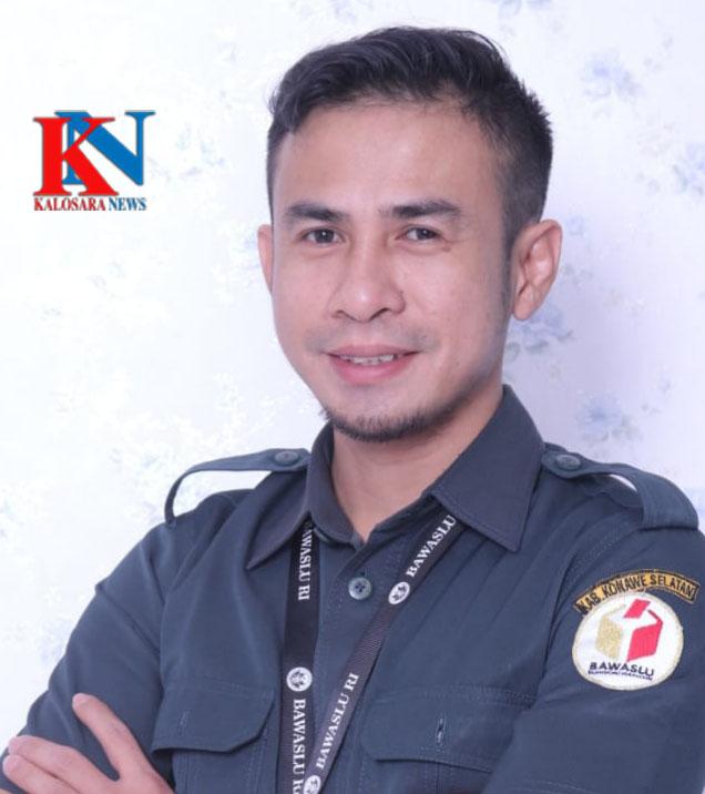 Ketgam : Awaluddin Divisi Hukum Penindakan Pelanggaran dan Penyelesaian Sengketa Bawaslu Konsel.