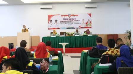 Ketgam : Dinas Kependudukan dan Pencatatan Sipil (Disdukcapil) menggelar Workshop Perjanjian Kerja Sama (PKS) PDK bertempat di Dragon Inn-Kendari, Sabtu (13/4/2019).