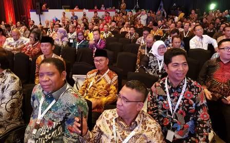 Ketgam : Bupati Konsel Surunudein Dangga saat mengikuti kegiatan Musrembang Nasional di jakarta