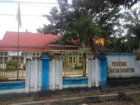 Ketgam : Kantor Puskesmas Wawotobi/foto : Ajis