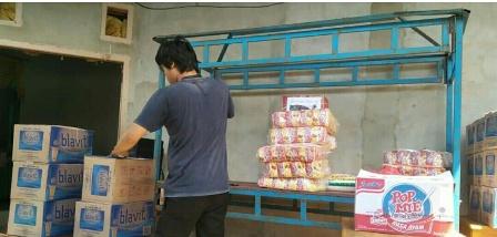 Ketgam : Hasil sumbangan warga desa Tongalino, Kecamatan Lembo.