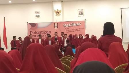 Ketgam : Suasana pelantikan pengurus DPD IMM Sultra periode 2018-2020/foto: Asman Kalosara News