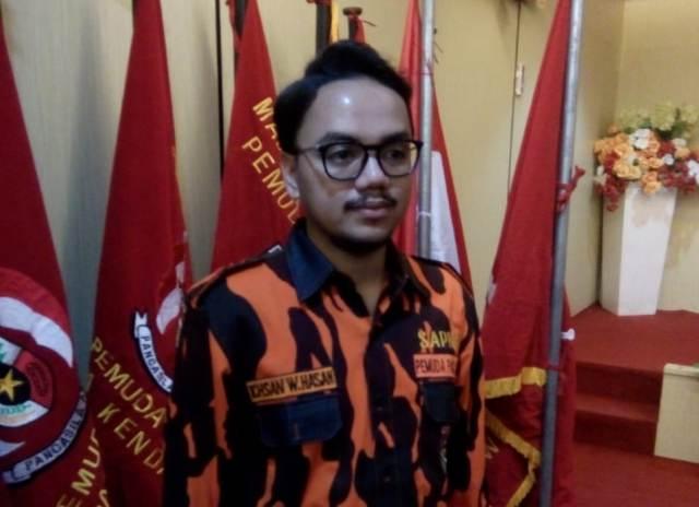 Ketgam : Ichsan W Hasan ketua PC Sapma PP Sultra