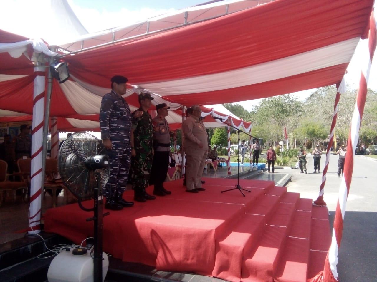 Ketgam : Gubernur Sultra H. Ali Mazi menjadi Inspektur upacara