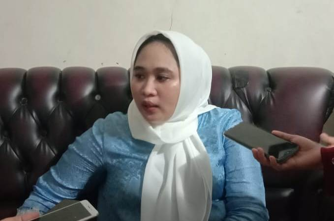 Ketgam : Devithesya Feriska Konggoasa saat wawancara dikediamannya