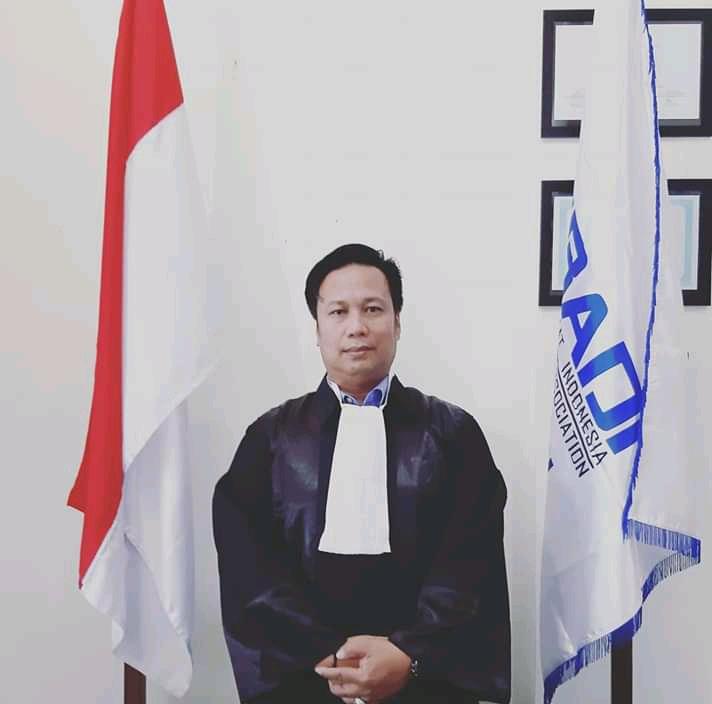 Ketgam : Ketua PBH DPC Peradi RBA Kendari, Khalid Usman