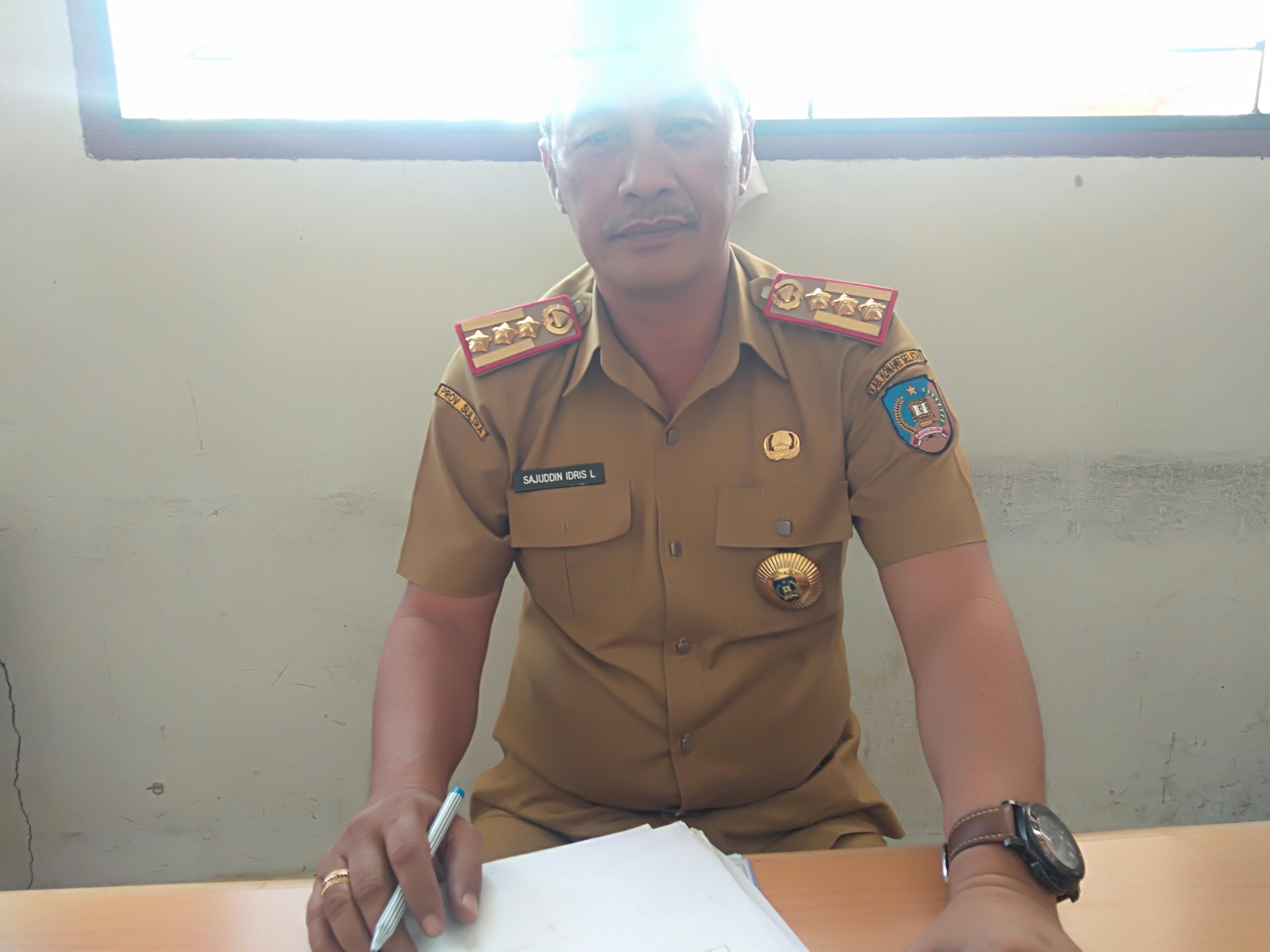 Ketgam : Kepala BPMD Konsel, Sajuddin Idris