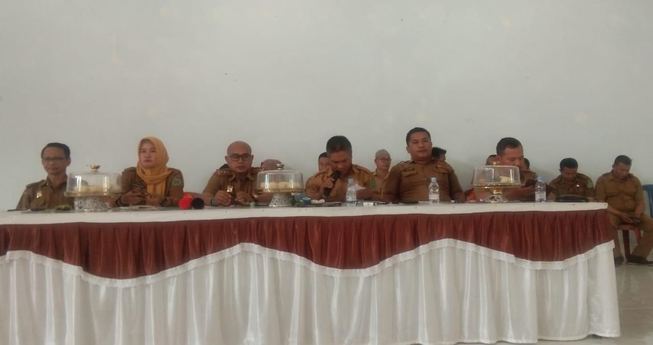 rapat koordinasi terpadu di awal tahun 2020 yang dipimpin Suryadi