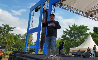 Ketgam : Sambutan Bupati Konawe Kery Saiful Konggoasa