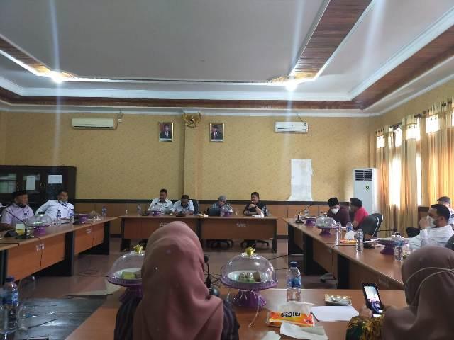 Ketgam : Suasana kunjungan Kerja anggota DPRD Kota Makassar di kantor DPRD Konsel