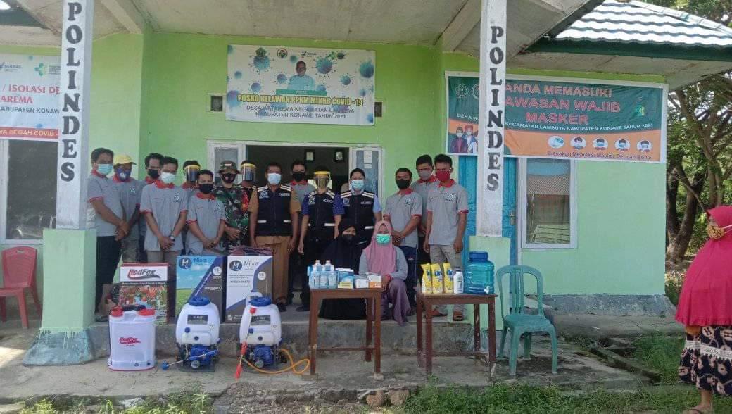 Ketgam : Persiapan penyemprotan disinfektan oleh Relawan Covid-19 Desa Watarema